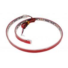 Светодиодная лента красная 30SMD 12*6мм/50см боковая