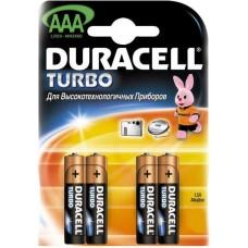 Батарейка AAA LR03 TURBO Duracell (4шт)