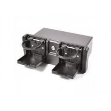 C12201 Бокс пластиковый с держателем стаканов черный