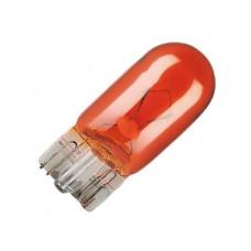 Лампа 12V WY5W 2,1*9,5d б/ц желтая (YADA)