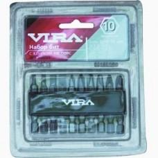 Набор бит 50 мм с клипсой на пояс VIRA 10 шт.
