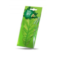 """Ароматизатор подвесной картонный """"Листик"""" зеленый лес (RUNWAY)"""