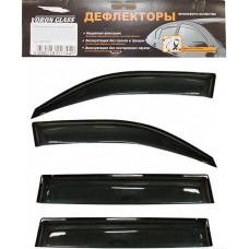 Дефлектор боковых стекол HYUNDAI Solaris (седан) с 2011г. на скотче 4шт. Voron Glass (AZARD)