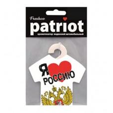 "Ароматизатор подвесной ""Patriot"" Я люблю РОССИЮ вишня и миндаль (AZARD)"