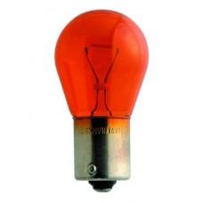 Лампа 12V PY21W BA15s 1 конт.(указатель поворотов,стоп-сигнал) желтая (NARVA)