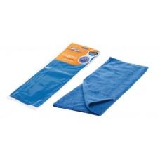 Салфетка из микрофибры двухсторонняя синяя (35*40 см) (AB-A-01)