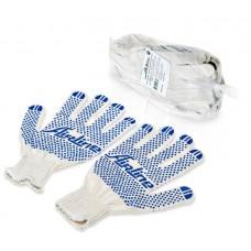 Перчатки комплект ХБ с точечным ПВХ покрытием