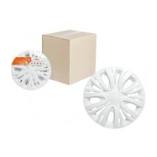 """Колпаки колесные 15"""" """"Лион"""", белый, карбон, компл. 2 шт.(AWCC-15-03)"""