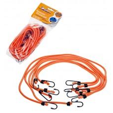 Набор резинок 6 шт.:  2 шт.-60см, 2шт.-80см, 2шт-100см, D-8 мм, (металлические крючки) (AS-R-04)