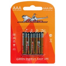 Батарейки LR03/AAA щелочные 4 шт.(AAA-04)