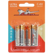 Батарейки LR14/С щелочные 2 шт. (C-02)