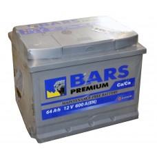 "Аккумулятор ""Bars Premium""  64Ah/600 лев.+ /242*175*190/"
