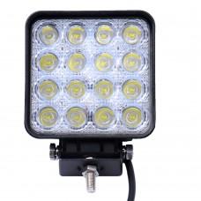 Прожектор рабочего света 48W EPSTAR 16X3W 10-30V 6000K 110x110x50 60degree IP67