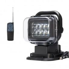 Светодиодный Фара-искатель с пультом LED 50W диоды: 10*5W/CREE (черный)