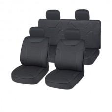 Чехлы на сиденья у велюр 11 пр. черный DRIVE (SKYWAY)