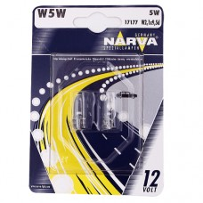 Лампа 12V W5W 2,1*9,5d б/ц (2шт.) (NARVA)
