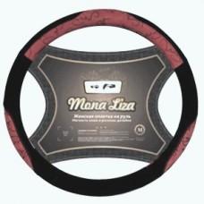 """Оплетка на руль """"M"""" 38см кожа """"Elegante"""" красный MONA LIZA (AZARD) OPLM0105"""