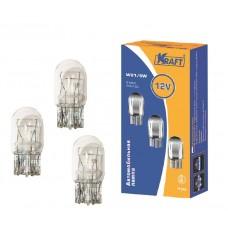 Лампа 12V W21/5W W3*16q 2-х конт.(указатель поворотов,стоп-сигнал) б/ц (KRAFT) КТ 700030