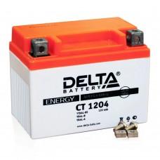 Аккумулятор (мото) 12V Delta CT 1Аккумулятор (мото) 12V Delta CT 1204 4Ah/50 клеммы под винт /113x70