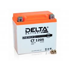 Аккумулятор (мото) 12V Delta CT 1205 5Ah/80 клеммы под винт /114x69x109/, 5Ah, JIS YTX5L-BS¶