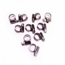 Хомут   8-12мм бензошланга  (KRAFT) нержавеющая сталь, универсал, 880400¶